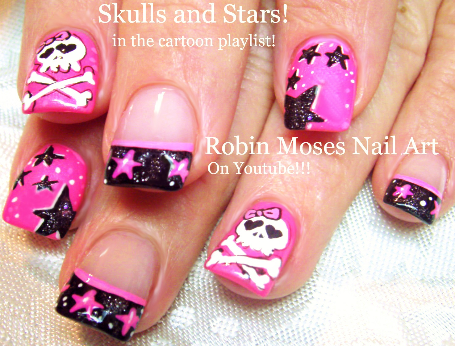 Robin moses nail art neon nails flaming skulls skull nails hot nails playlist simple diy nail art tutorials amazing nail design ideas for beginners to advanced nail techs prinsesfo Gallery