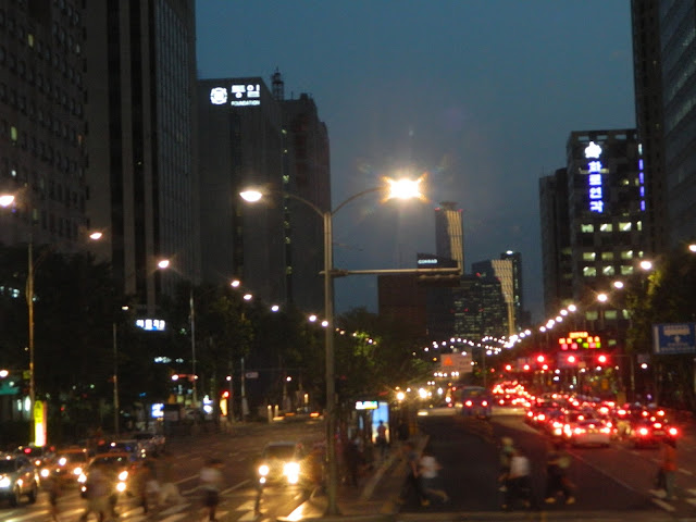 Skyscrapers at night Seoul
