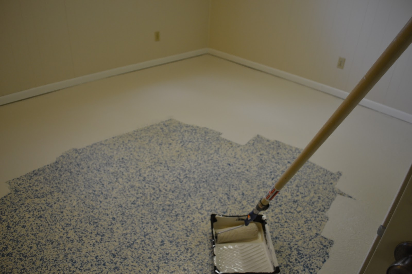 DIY Faux Painted Tile Floor