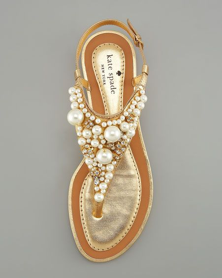 Kate Spade Pearl Beach Flat Sandals