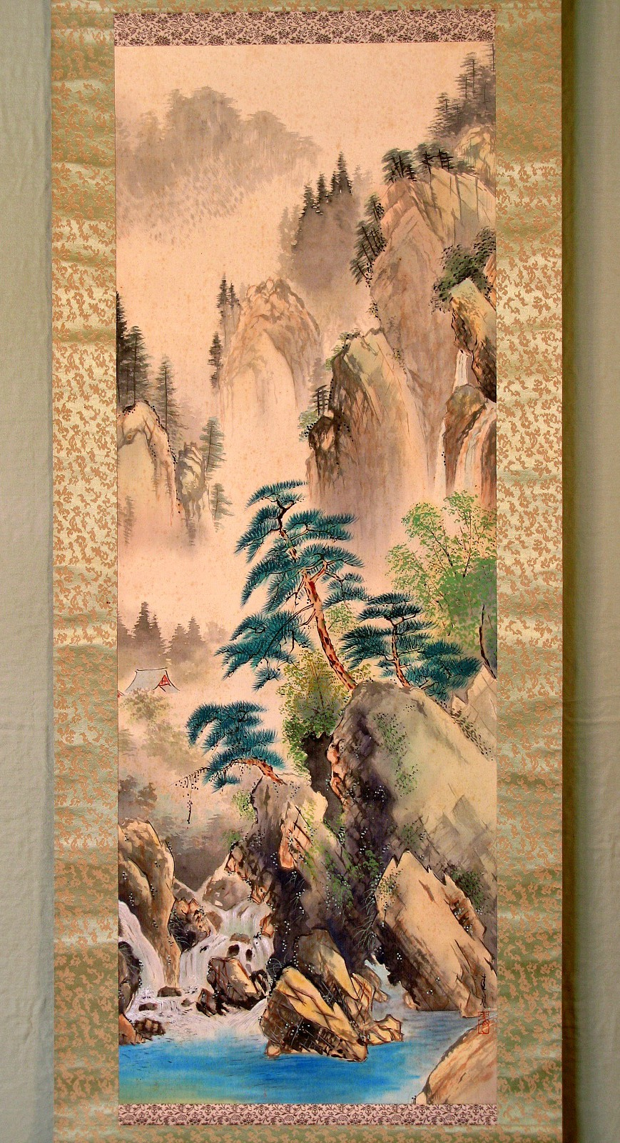 Japanese scroll paintings may 2012 for Japanese watercolor paintings