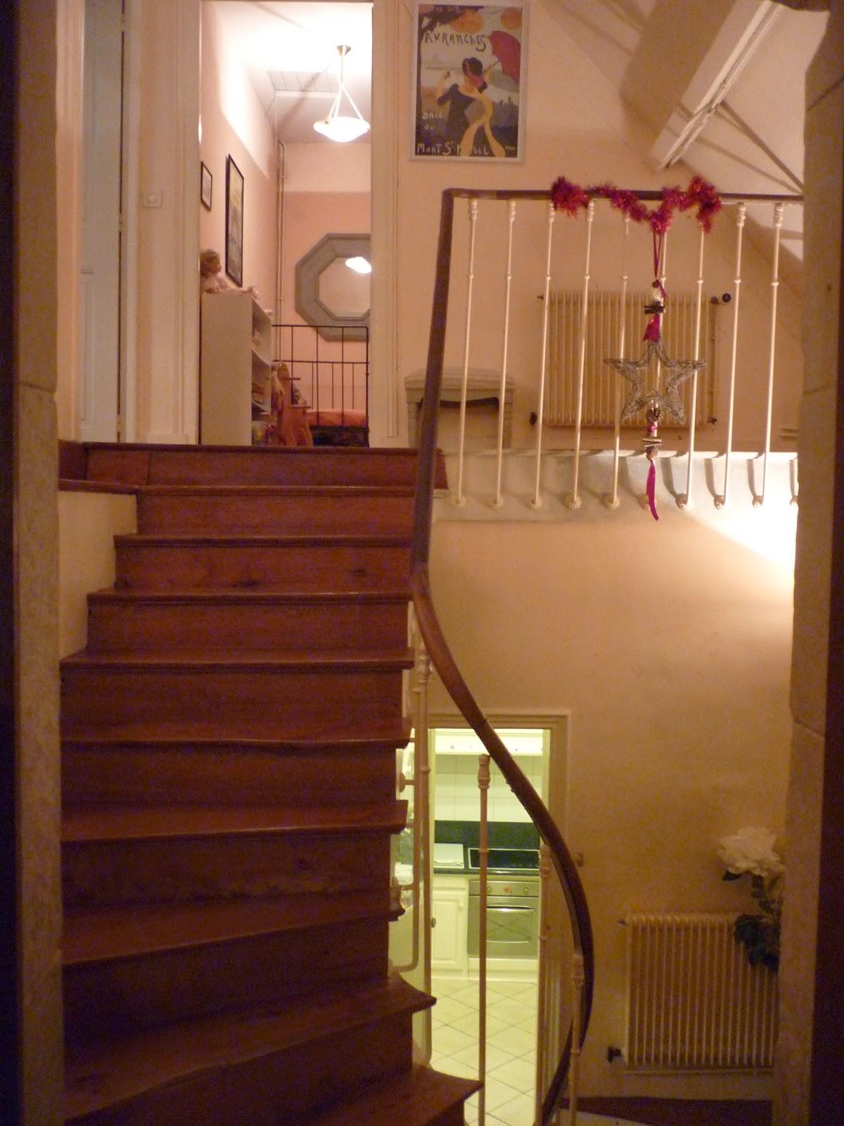 Escalier du Manoir de Beaurepaire en Normandie