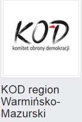 Facebookowy fanpage KOD Warmia i Mazury