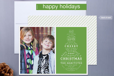 snowman type typography christmas holiday photo card sarah brown minted