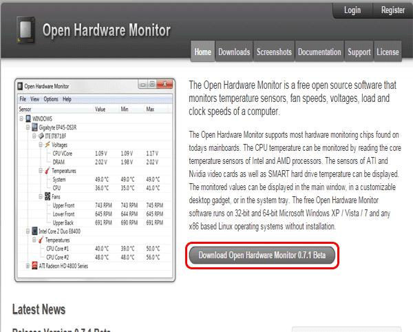 Open Hardware Monitor,Cara Cek Suhu Komponen PC atau Laptop