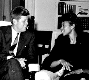 Wilma Rudolph and President John F. Kennedy