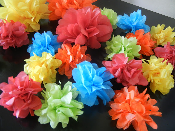 Making It Count :: Tissue Paper Flower...Cake