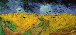 Campo de trigo com corvos - 1890