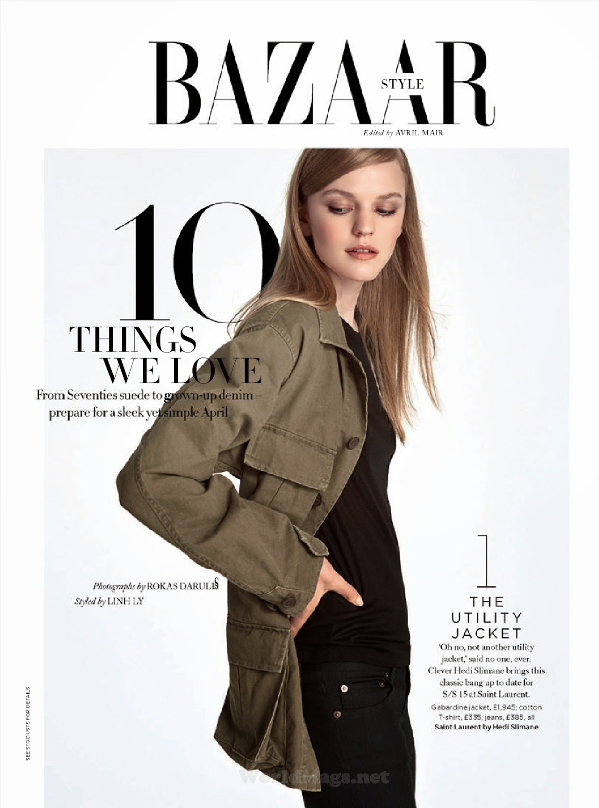 Fashion Model @ Grace Plowden - Harpers Bazaar UK, April 2015