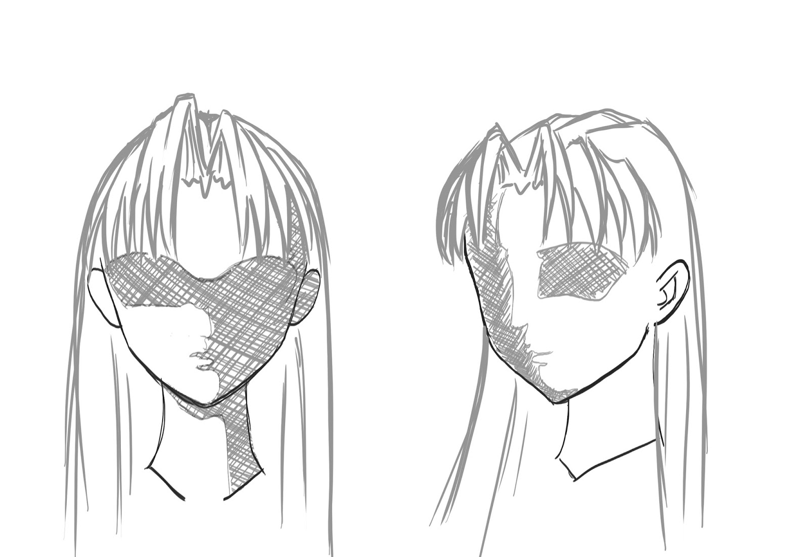 How To Draw Anime Manga Hair Draw Central