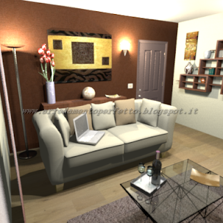 Ingresso soggiorno moderno