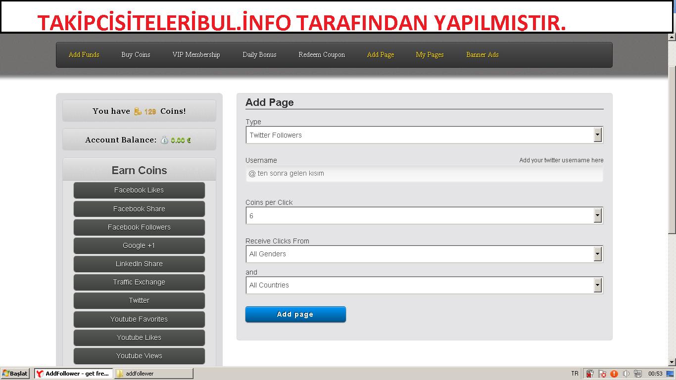Takipci Siteleri Bul : Yeni Bir Site AddFollower
