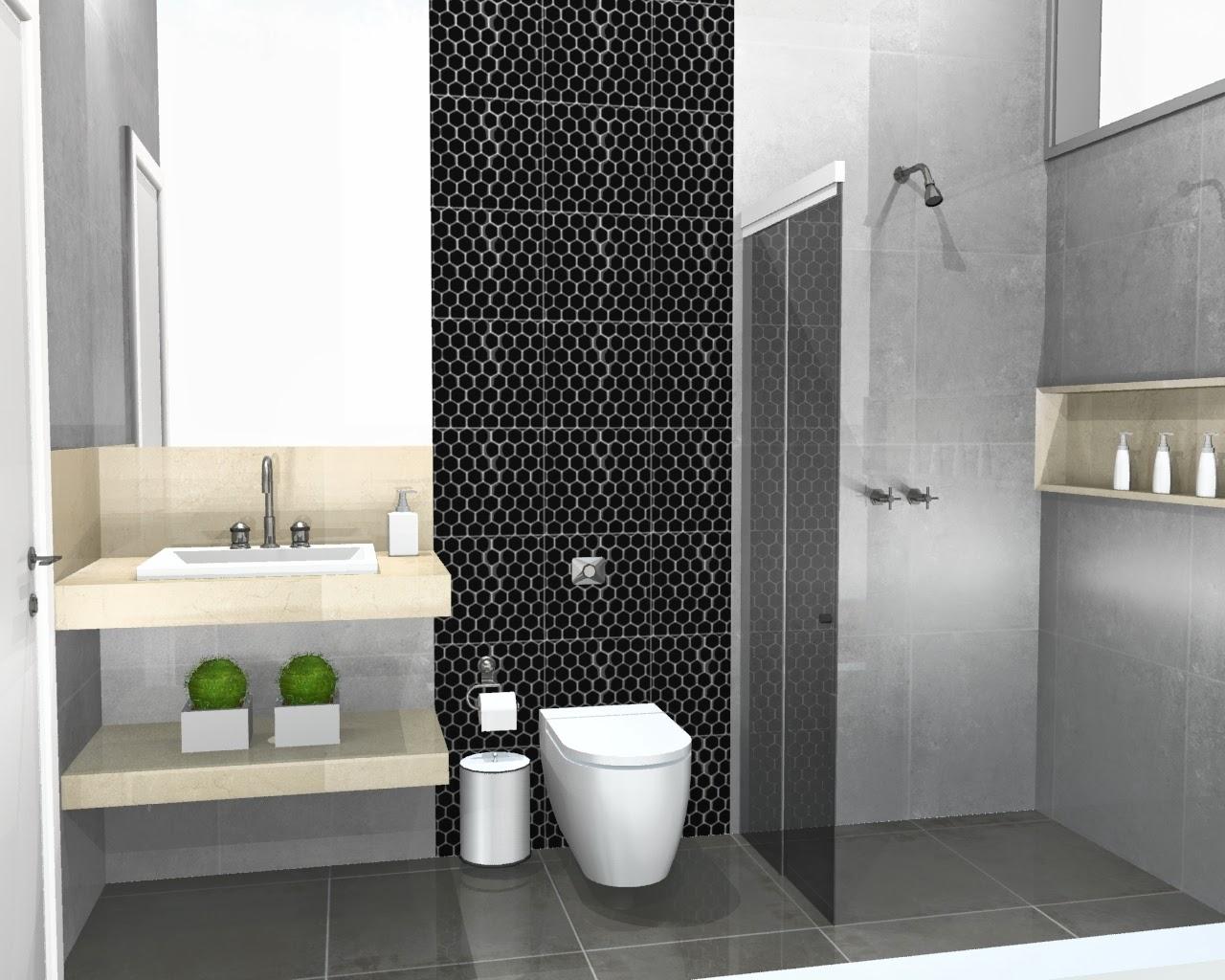 Banheiro Com Piso Cinza Claro  rinkratmagcom banheiros decorados 2017 -> Banheiro Pequeno Cinza