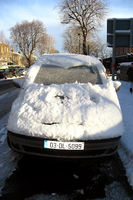 Snow covered car - Dublin, Ireland