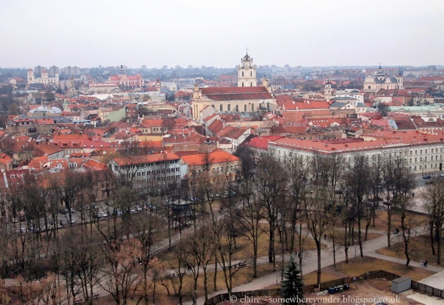 The city of Vilnius, Lithuania