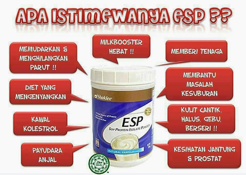 Himpunan Testimoni Energizing Soy protein (ESP) Shaklee