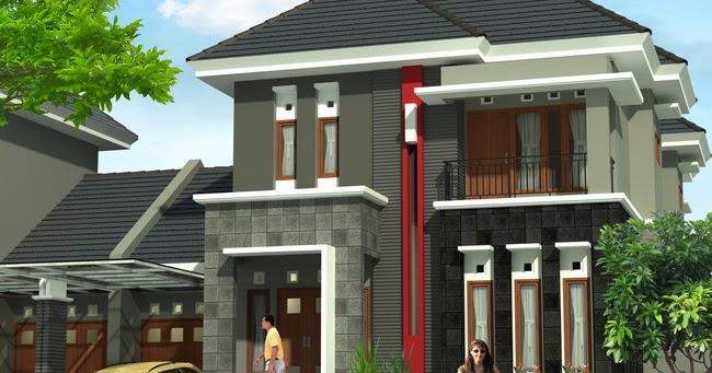 rumah minimalis type 90 dengan 2 lantai