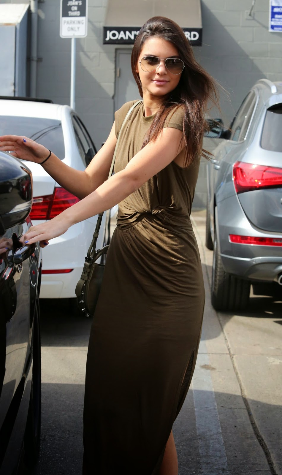 Kendall Jenner in an Eleven Paris maxi dress in Beverly Hills