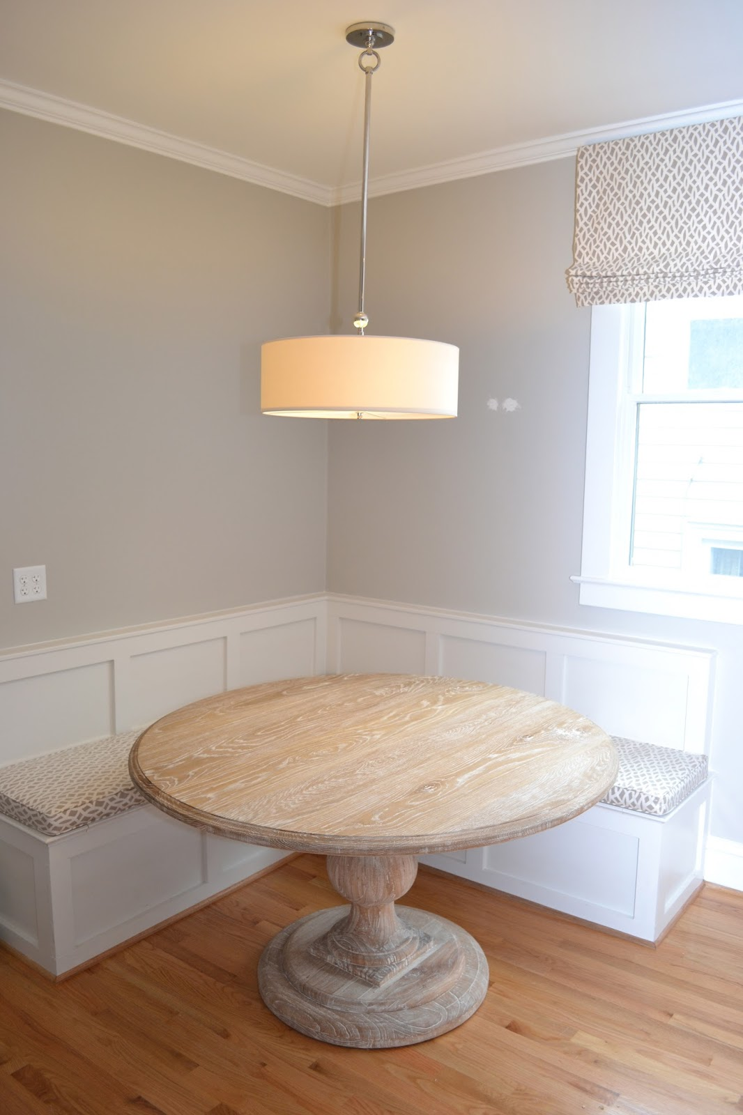 Lucy williams interior design blog before and after for Kitchen table bench seat