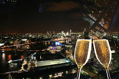 London Eye y champagne