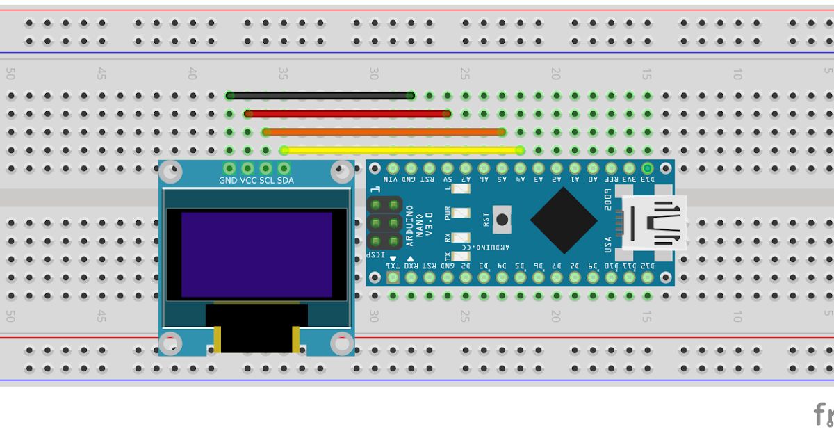 Arduino er walking bitmap on inch i c oled