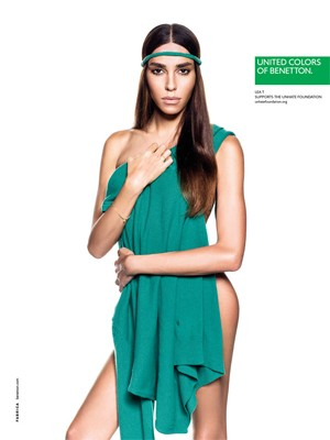 Lea T em nova campanha da Benetton (Foto: Divulgao/G. Rustichelli/Fabrica)