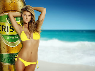Cerveza Cristal Beer Commercial Featuring Sexy Swimsuit Model Nina Agdal