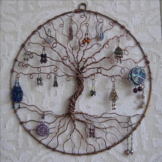 Real elena 14 idei depozitare biju - Arbre a bijoux mural ...