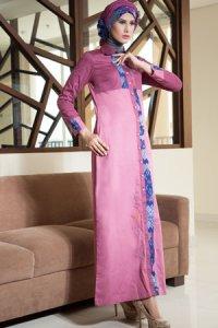 Azka Sarimbit V3 Gamis GSK14 - Pink (Toko Jilbab dan Busana Muslimah Terbaru)