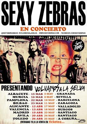 SEXY ZEBRAS GIRA VOLVAMOS A LA SELVA TOUR 2013