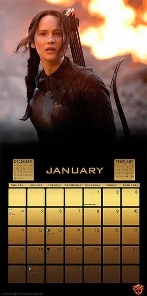 Calendario 2015 Los Juegos del Hambre Sinsajo