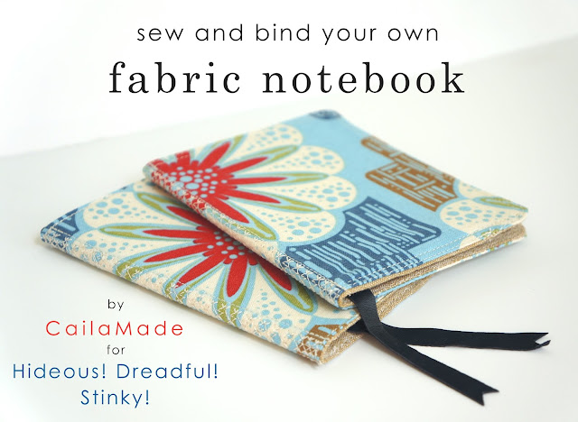 sew and bind fabric notebooks