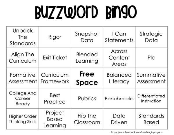Who wants to play Reformey Buzzword Bingo?