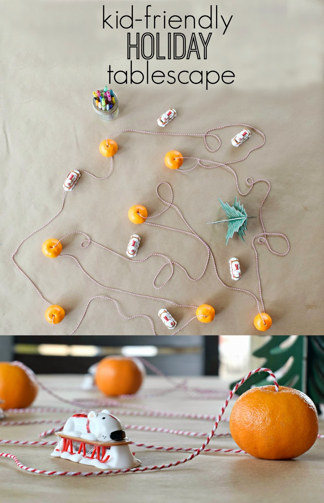 Halos, Kid Friendly Tablescape, kids table ideas, holiday kids table