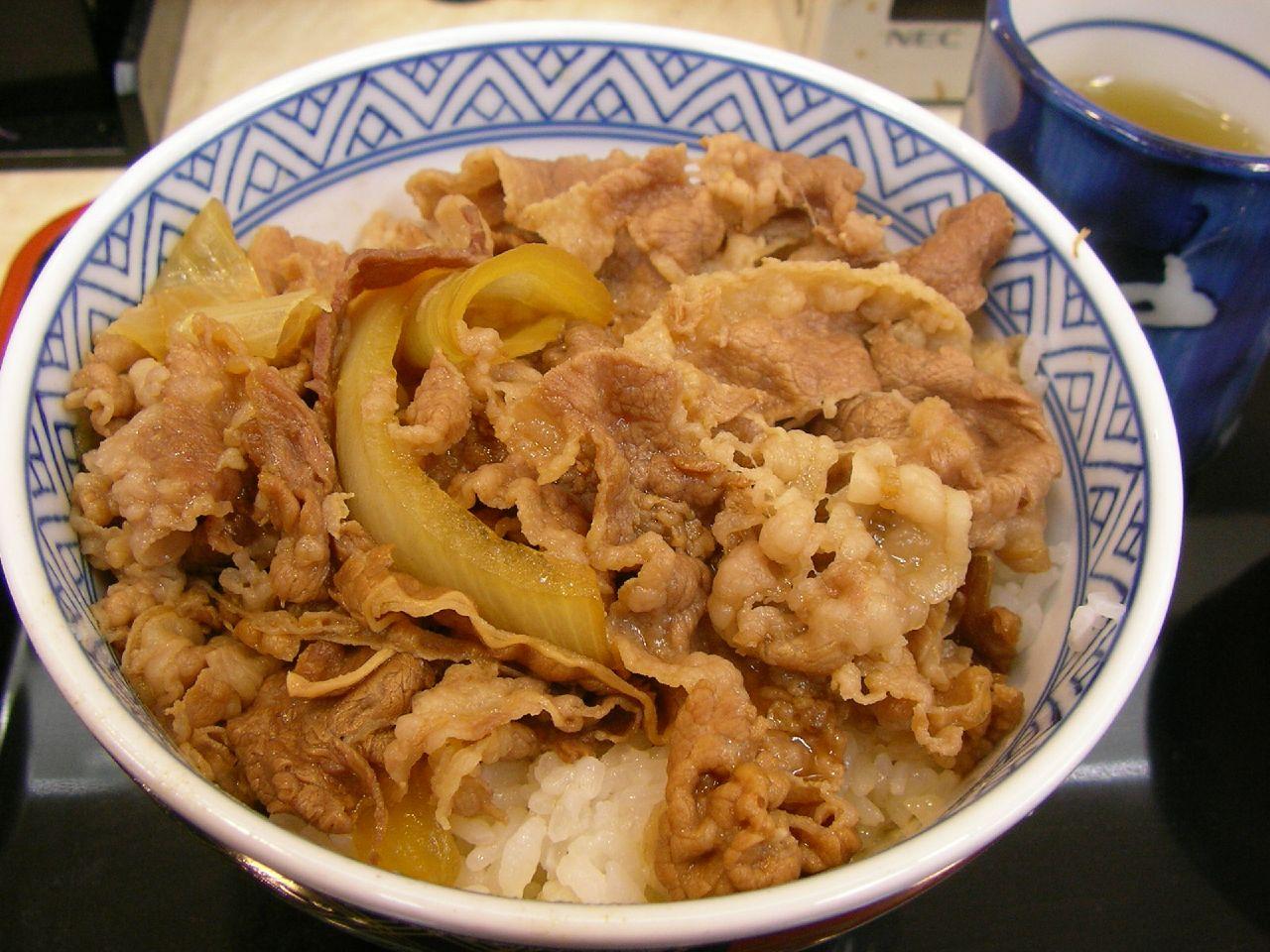 Tokyo ExcessGyudon From Yoshinoya and Sukiya and JAL Air Beef Bowl