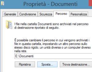 cambiare posizione ai documenti
