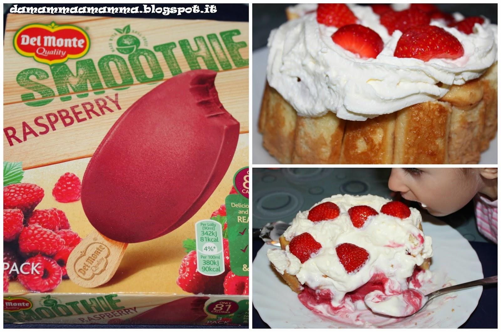 Torta-gelato-alla-frutta-con-lamponi-e-fragole
