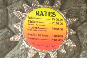 Entrance Fee Rates of Las Farolas