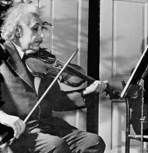 Einstein improvisando