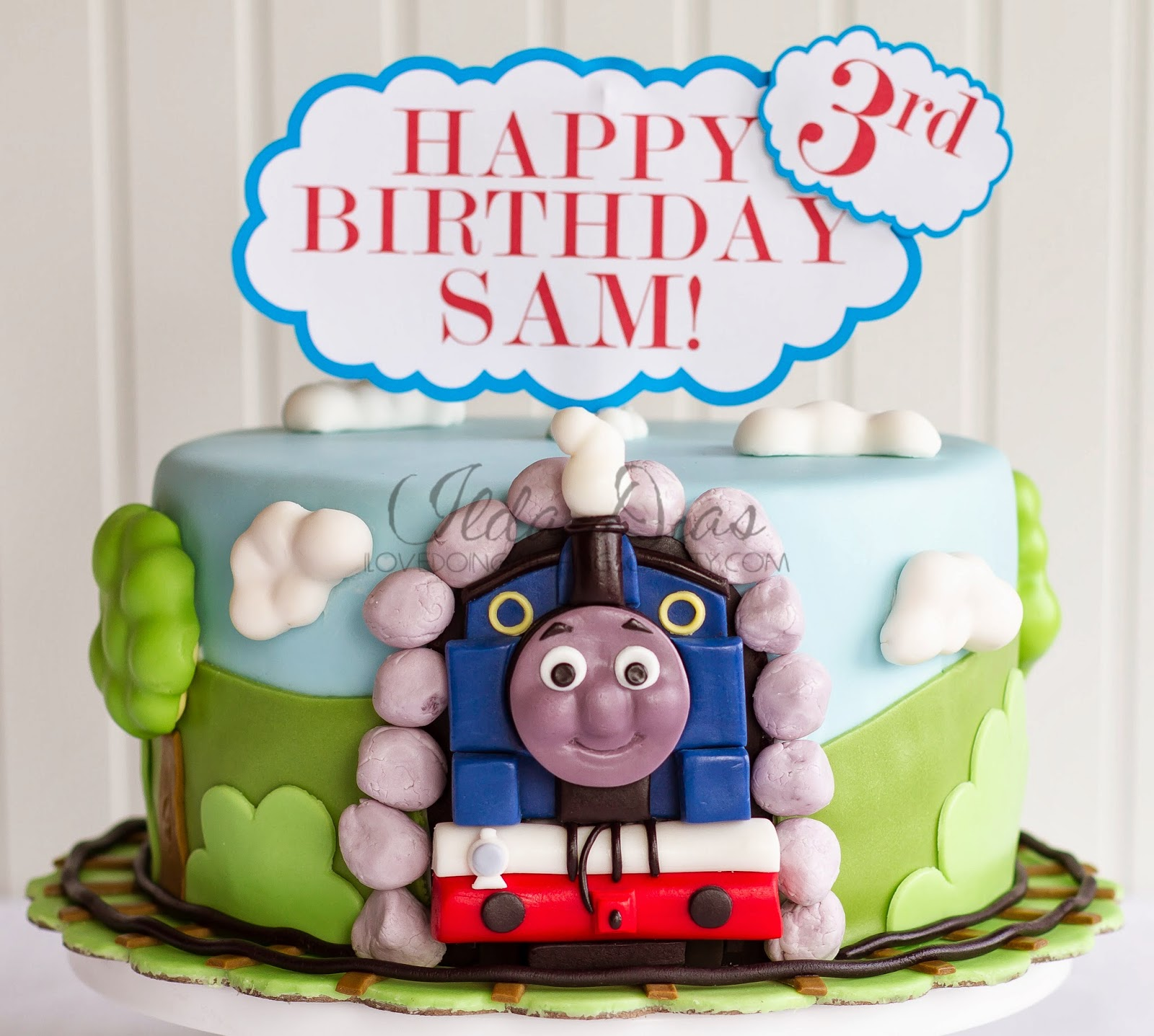 I Love Doing All Things Crafty Thomas The Train Birthday Cake