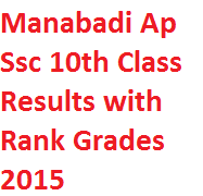 Manabadi Ap Ssc 10th Class Results with Rank Grades 2015 Download