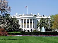Foto del pórtico sur de la fachada de la Casa Blanca
