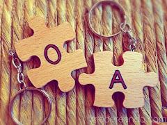 Llaveros de puzzle para parejas