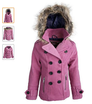 Baby Pea Coat: Baby Pea Coat Dollhouse Baby Girls Fleece Dressy ...