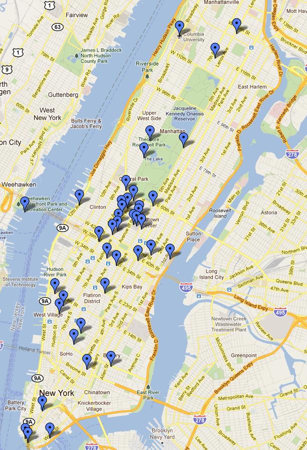 Trip To NYC Carte Des Lieux Visits Manhattan