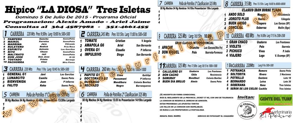 Tres Isletas Programa Oficial 05-07-15