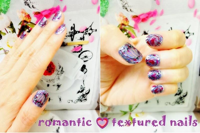 Romantic Textured Nails
