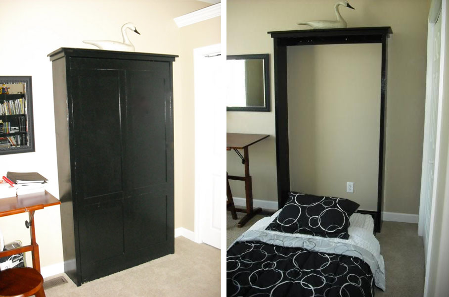 Grosgrain Diy Murphy Bed For Office Guest Room