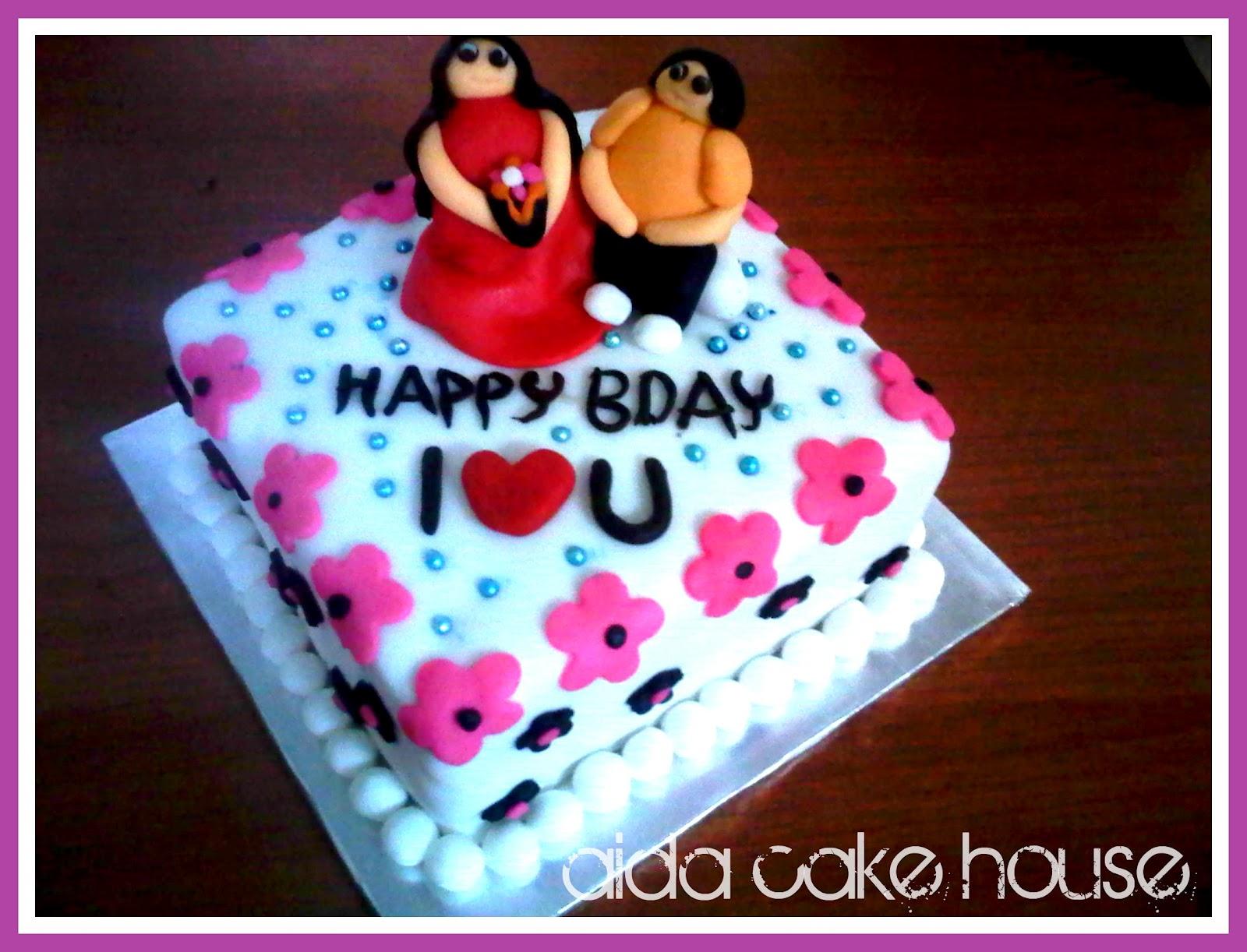 Couple Birthday Cake Pictures : [Fondant Cake] Couple Birthday Cake