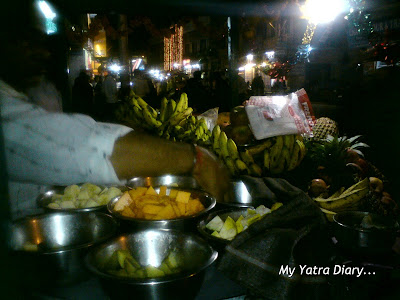 Fruit chat in the gullies of Haridwar